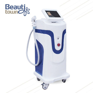 Long Pulse 808nm Diode Laser Hair Removal Machine White And Gray for Salon