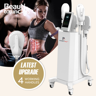 hiemt 4 handles newest ems sculpt body shaping machine all body area use