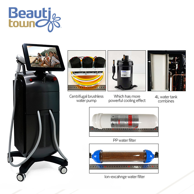 latest release laser removal hair equipment cost 755 808 1064nm