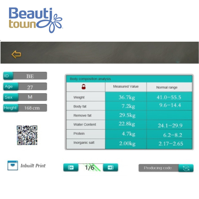 Best Body Analyzer Scale Machine New Design for Sale